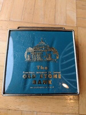 Vintage 1960's Old Stone Bank-Providence, Rhode Island Coin Bank-Good Condition