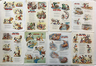 1930s Mickey Mouse Donald Duck WALT DISNEY CARTOON PRINT Good Housekeeping PAGES
