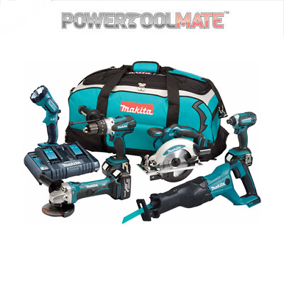 Makita DLX6072PT 18v 3x5.0Ah LXT Li-ion 6pc Power Tool Kit