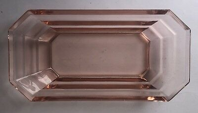 Rare 1926-1931 Tea Room Pink by Indiana Glass Company Celery Dish 8 1/4""