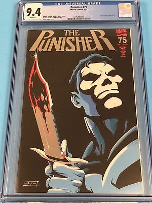 The Punisher #75 CGC 9.4 NM -White Pages - New Case