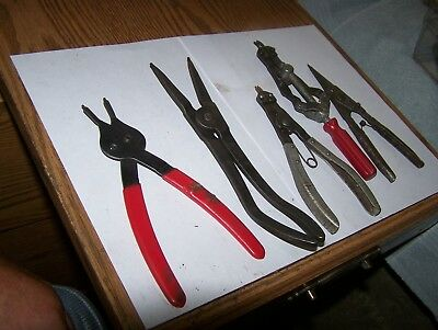 Vintage Snap Ring Pliers 5 Pair Of Snap Ring Pliers Mechanics Estate Pliers