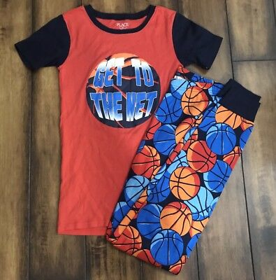 """Children's Place """"Get To The Net"""" Pajamas Boy Size 16"""