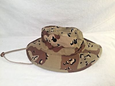 NEW USGI 6 COLOR CHOC. CHIP DESERT STORM BOONIE HAT   Medium