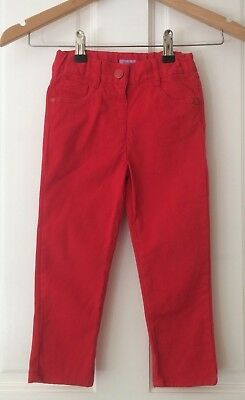 red, girl's jeans/trousers. age 3-4. hearts on back pockets