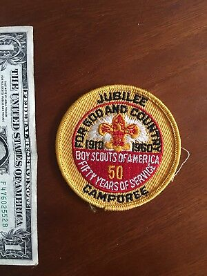 Boy Scouts Of America 1960 National Jamboree Patches Jubilee Camporee