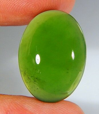 18 Ct Top Natural Green Emerald Color Serpentine Jade Oval Cabochon Gemstone A49
