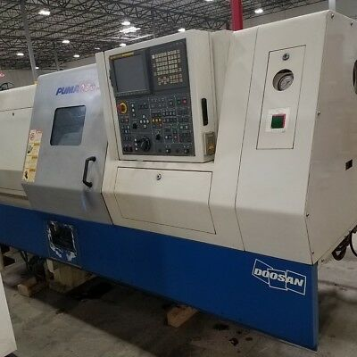 "Used Doosan Puma 280 CNC Turning Center Lathe Daewoo Fanuc Tailstock 3"" Bar 2007"