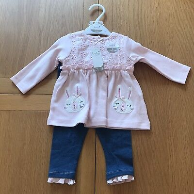 M and Co BNWT Age 0-3 Months Top and Leggings Set