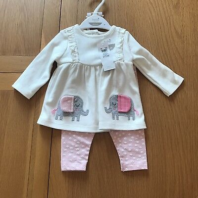 M and Co BNWT Size Newborn Top and Leggings Set