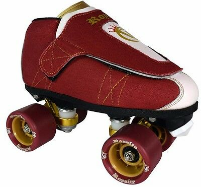 New! VNLA Vanilla Junior Royalty Red & White Quad Roller Jam Skates