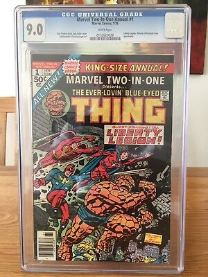 Marvel King Size Marvel Two In One 1 Cgc 9.0 White Pages