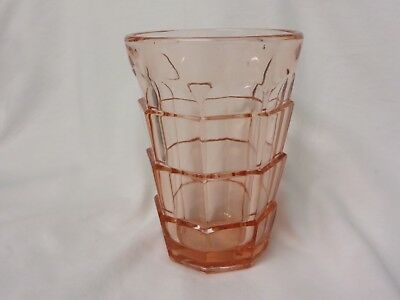 Indiana Glass TEA ROOM PINK Depression FLAT TUMBLER