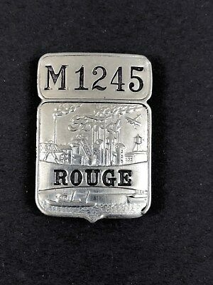 """Vintage Ford Motor Co. Employee Badge # M1245 """"Rouge"""" Plant"""