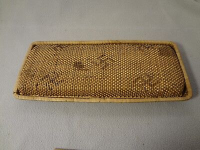Antique Chinese Woven Rattan Glove Box