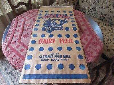 Feed Sack, Border Brand Dairy Feed, Clements Feed Mill, Waco Texas