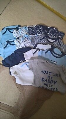 Bundle of Baby Boys Vests age 9-12 months you