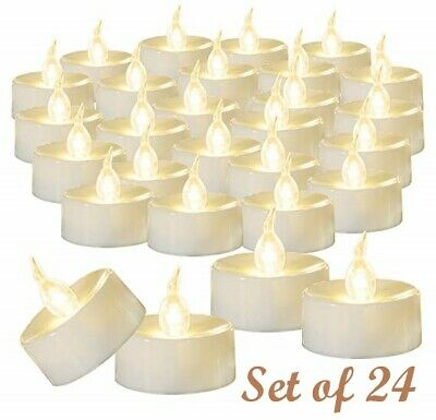 12Pcs LED Tea Light Fake Candles Flickering Flameless Votive Battery Operated