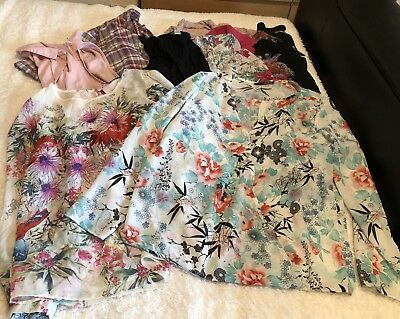 Ladies Size 14 Mixed Casual Top Bundle X 8 Items