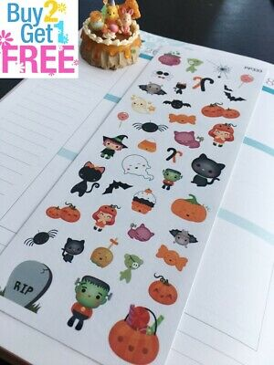 PP333 -- Kawaii Halloween Icons Planner Stickers for Erin Condren (40pcs)