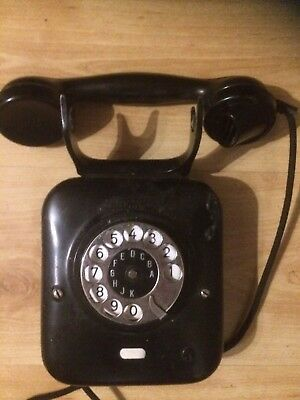 Vintage Antque Dutch  Wall Mounted Telephone