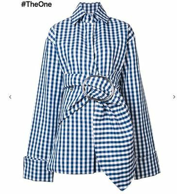 Gorgeous Sold Out Nwt Marques'almeida Blue Gingham Belted Jacket