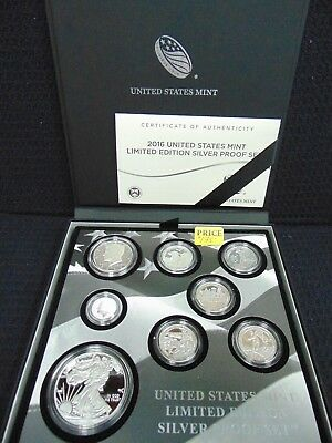 2016 S United States Mint Limited Edition Silver Proof Set