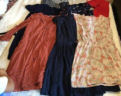 Ladies Size 14 Mixed Casual Dress Bundle X 8 Items