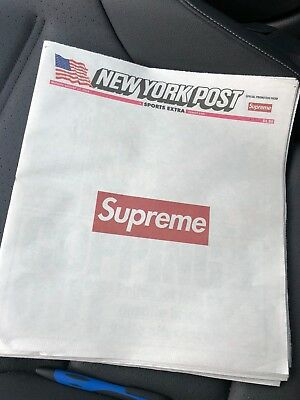 Supreme × New York Post Special Promotion Newspaper 8/13/18