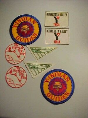 MINN VALLEY Y-INDIAN GUIDES YMCA - 1984 POW-WOW - 1984 Pinewood Derby Patches