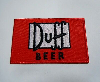 "DUFF BEER-The Simpsons - Embroidered IronOn Patch - 3"" x 2"" Springfield's Finest"