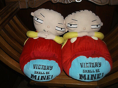 The Family Guy STEWIE Victory Is Mine Slippers Sz Large L 11-12