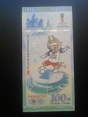 Russia  100 Rubles, Test Note2018, Football FIFA World Cup, UNC