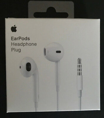 Apple Wired EarPods with 3.5mm Headphone Plug White MNHF2AM/A For iPhone