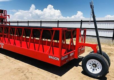 New, 24', Red, Silage/Hay Feeder Wagon