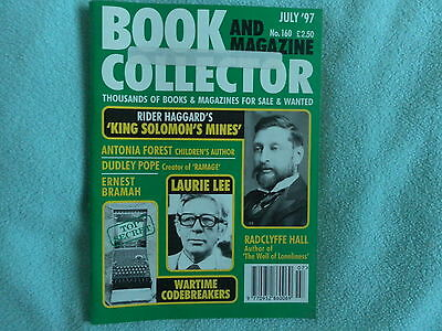 BOOK AND MAGAZINE COLLECTOR No160 JULY 1997 HAGGARD,LEE,POPE,FOREST,BRAMAH