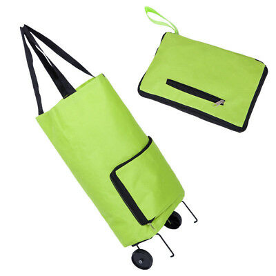 Foldable Trolley Wheel Bag Shopping Portable Cart Folding Home Travel Luggage