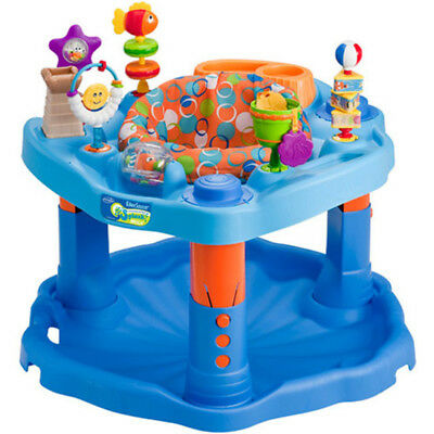 Evenflo ExerSaucer Activity Center, Mega Splash Infant Toddler Male Bouncer Seat