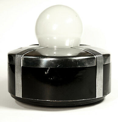 Vintage Eveready Masterlite Art Deco Black & Chrome Table Light Model 2238