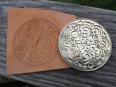 ORNATE HISTORIC ROUND #3 Leather Bookbinding Finishing tool Stamp EMBOSSING die