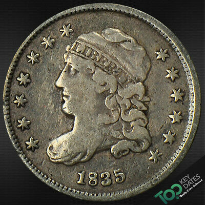 1835  H10¢ Small Date, Small 5¢ Capped Bust Half Dime ~ Vf Very Fine ~ #4285Fou1