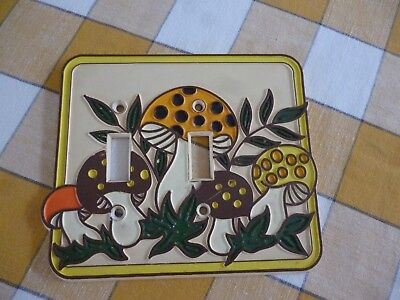 Merry Mushroom Double Switch Plate Cover
