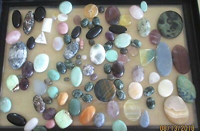 Cabochons ,Seraphinite, Jaspers, Varasite ,Otheres 1800 Cts.