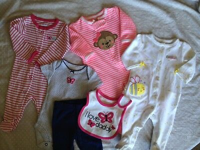 Carters/Child of Mind Newborn Baby Girl Lot (six pieces)