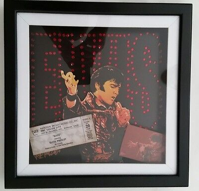 Elvis Presley wall art by Joe Petruccio NBC Color City Ticket
