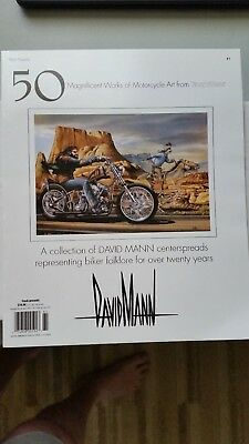 David Mann Art Books Set #s 1 - 2 - 4 Easyriders Magazine Harley Choppers EC