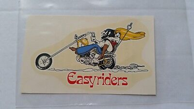 Rare Easyriders Magazine Harley Choppers Outlaw Biker Waterslide Decal Unused EC