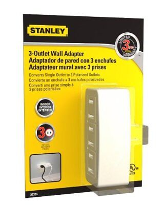 Stanley 30326 Polarized 3-Outlet Wall Adapter