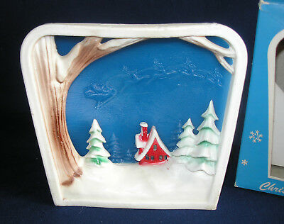 Vintage Gurley Glow-Candle Christmas Scene with Box