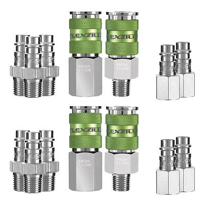 Legacy Manufacturing A53458FZ 14 Piece Flexzilla Pro High Flow Coupler And Plug